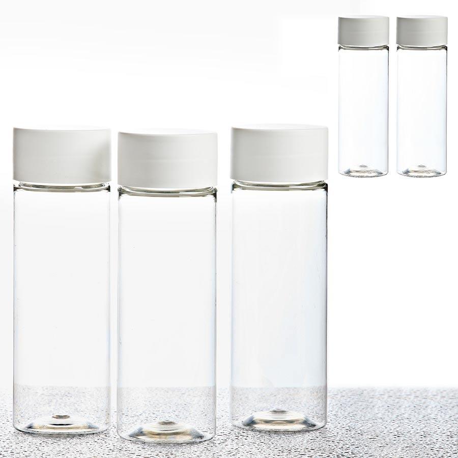 5er Set PET Flasche 200ml mit Schraubdeckel