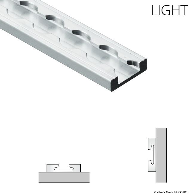 2m Airline-Schiene ECKIG light