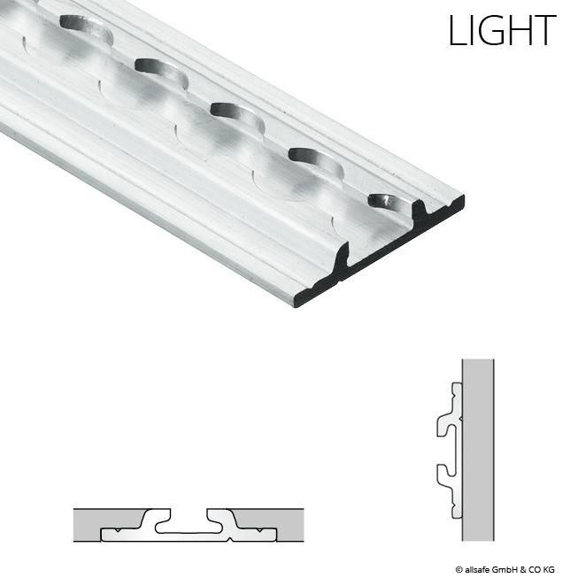 2m Airline-Schiene MIT FLANSCH light