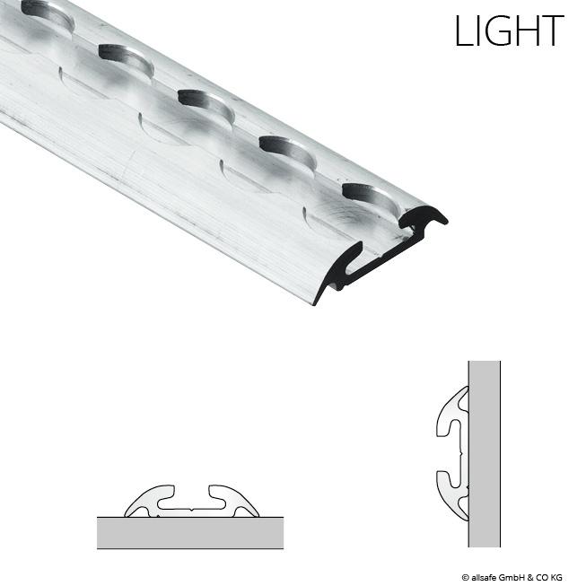 2m Airline-Schiene HALBRUND light