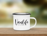 Emaille Becher Vanlife Simple